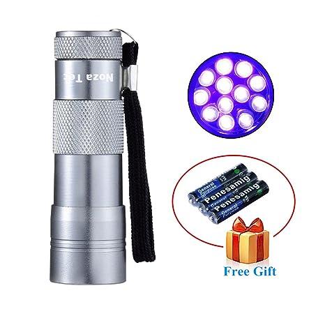 Noza Tec mascota negra linterna UV 12 LED Detector de Orina manchas Finder olor detectar moneda