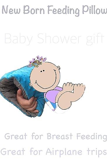 Amazon.com: New Born antebrazo Apoyo Almohada (Azul/Gris): Baby