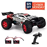 Remote Control Car, KOOWHEEL 1:12 Scale 4WD RC Cars,Fast 30MPH Electric Racing Car Off Road RC Monster Truck RTR RC Buggy LED 2.4Ghz Radio Controlled Car with 2 Rechargeable Batteries