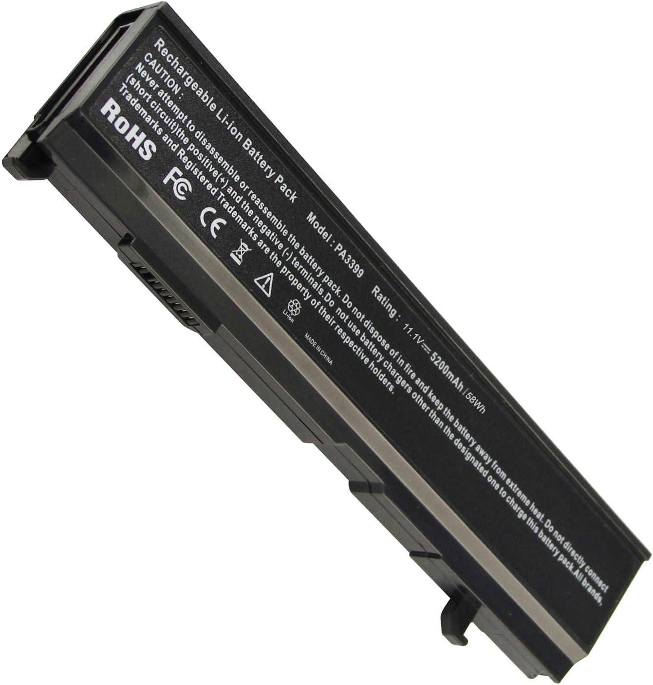 Fancy Buying 6 Cells Replacement Battery for Toshiba PA3399-3BAS PA3399U-1BAS PA3399U-1BRS PA3399U-2BAS PA3399U-2BRS PA3400U-1BAR, P/N: V000050690 V000050720 V000050730 V000051220