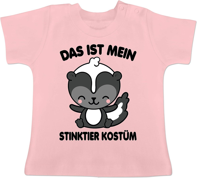 Karneval und Fasching Baby schwarz Das ist Mein Stinktier Kost/üm Baby T-Shirt Kurzarm