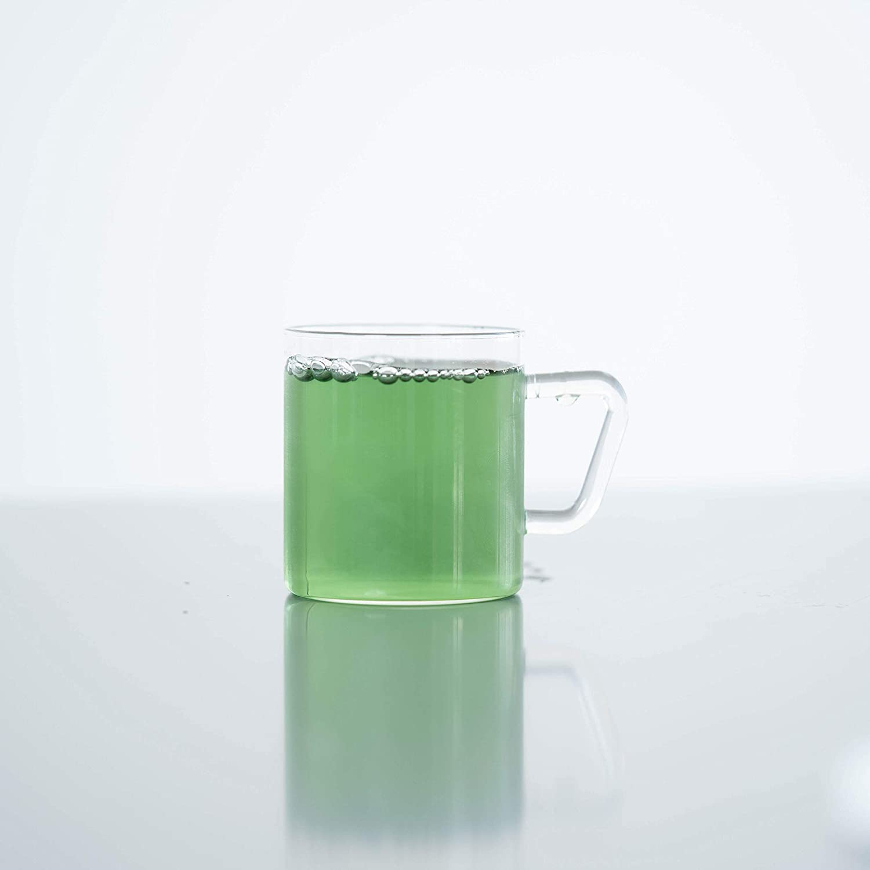 Premium 4 Piece Glass Set Odor Proof Ultra Durable Borosil Vision Classic Mugs Fade Proof Stronger Than Glass 10 OZ