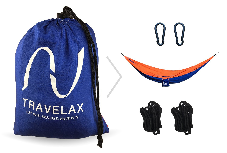 plage id/éal comme hamac de jardin Hamac portable ultral/éger TRAVELAX fait en toile de parachute en nylon r/ésistant voyage ou piscine. supports d/'accroche compris