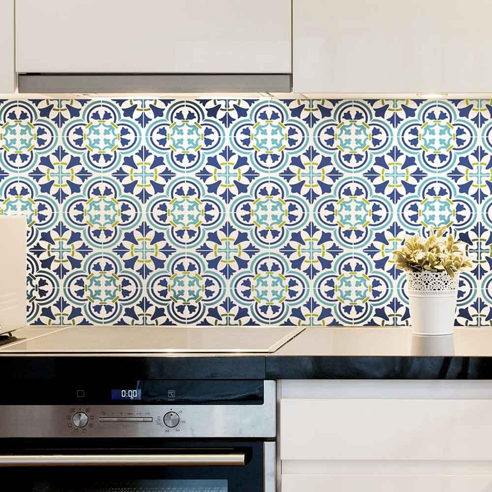 Amazon.com: Augusta Tile Stencil - Portuguese Tile Stencils - DIY ...