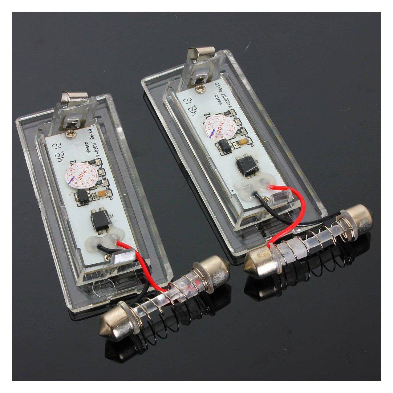Semoic Par Sin Error LED Lampara Luz de Placa de matricula de Numero para BMW X5 E53 E83 X3 03-10