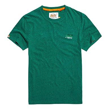 942737a4dc Superdry Orange Label Vintage Embroidery T-Shirt Shamrock Green Grit ...