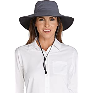63f93b532af Coolibar UPF 50+ Men s Shapeable Wide Brim Hat - Sun Protective ...