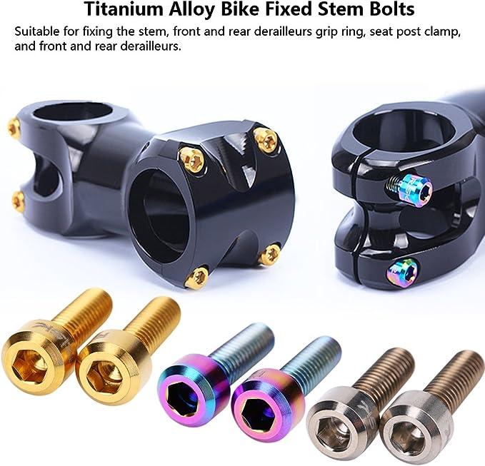 4Pcs Portable M6x18 Titanium Alloy Mountain Bike Road Bicycle Stem Screw Bolts