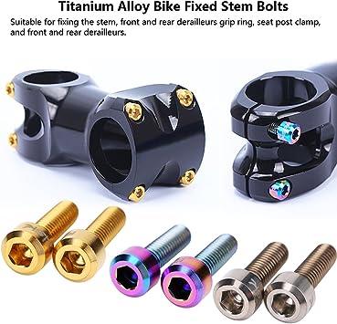 Duokon Stem Bolts TC4 Titanium Alloy Bike Bolts Bicycle Screws For Mountain Bicycle StemBlack//Colorful//Golden