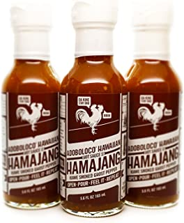 product image for Hamajang Smoked Ghost Pepper Hot Sauce - First We Feast, Hot Ones, Season 5, Adoboloco Hot Sauce - Very Hot - 3, 5.6oz Bottles