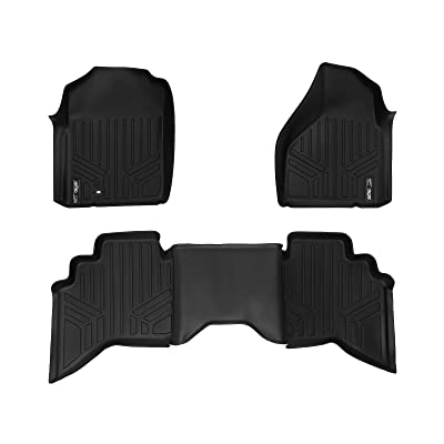 MAXLINER Floor Mats 2 Row Liner Set Black for 2002-2008 Dodge Ram 1500 Quad Cab / 2003-2009 Ram 2500/3500 Quad Cab: Automotive