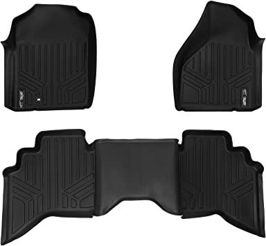 Amazon Com Maxliner Floor Mats 2 Row Liner Set Black For 2002 2008 Dodge Ram 1500 Quad Cab 2003 2009 Ram 2500 3500 Quad Cab Automotive