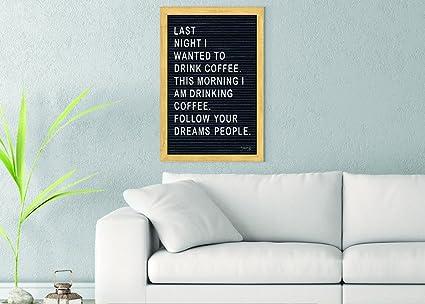 amazon com follow your dreams felt board printed on 20x30 canvas