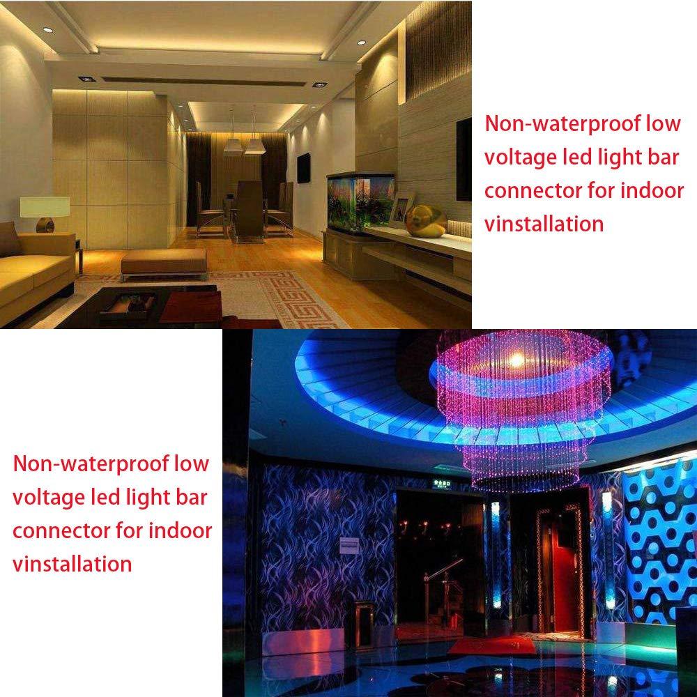 10 St/ück 10 St/ück KINYOOO 20 Pcs 4 poligen LED Verbinder f/ür 10mm Breit SMD 5050 RGB LED Streifen Stripes L- Form Schnellverbinder .
