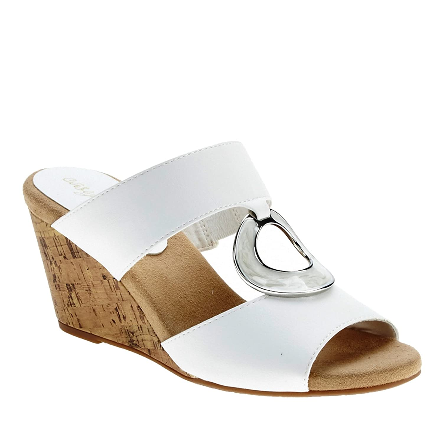 Easy Street Women's Ever Wedge US|White Sandal B01AA7SR52 6.5 B(M) US|White Wedge b624d9