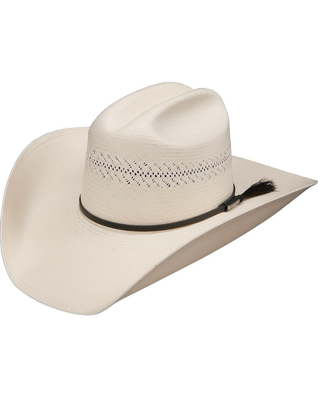 Stetson Men's Rankin Dri-Lex 8X Shantung Straw Cowboy Hat Natural 7 5/8