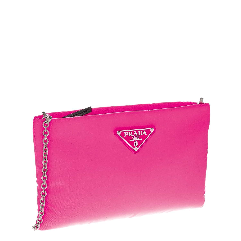 9293ccac71db5e Amazon.com: Prada Women's Small Padded Nylon Clutch Pink: TheLuxuryClub