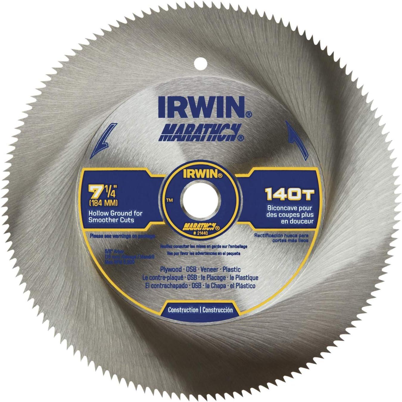 IRWIN 7-1/4-inch Steel Corded Circular Saw Blade