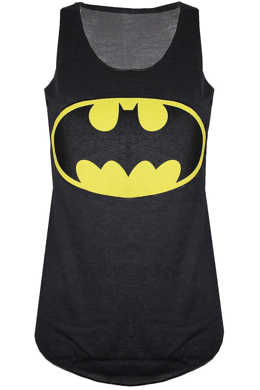 Be Jealous - Débardeur pour femmes sans manche Batman Superman Superwoman - Noir Batman Batwoman Batgirl, M/L - 40/42