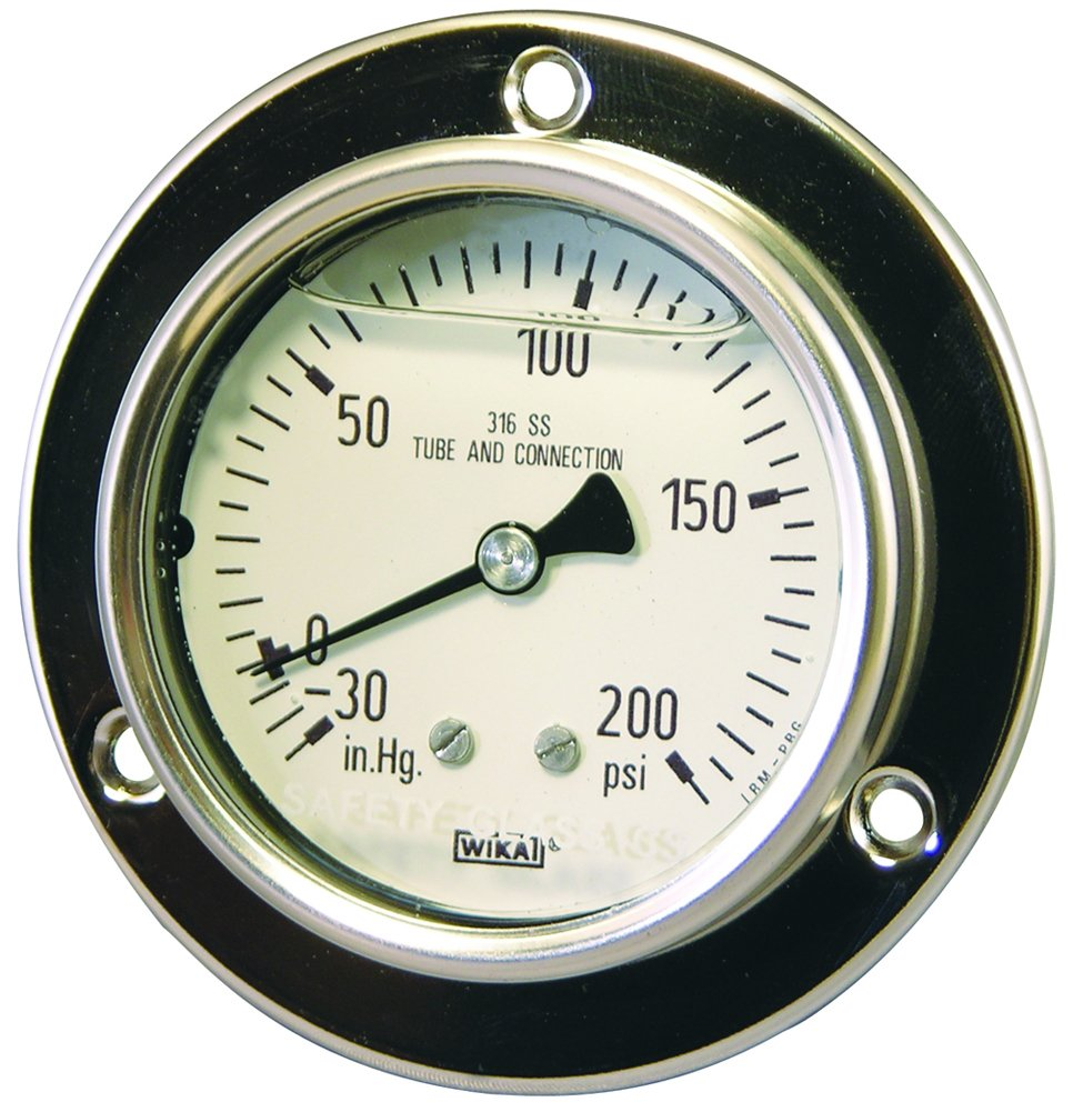 Dixon 0-600psi, All Stainless Panel Builder Gauge (PBLSS600) by Dixon Valve & Coupling (Image #1)