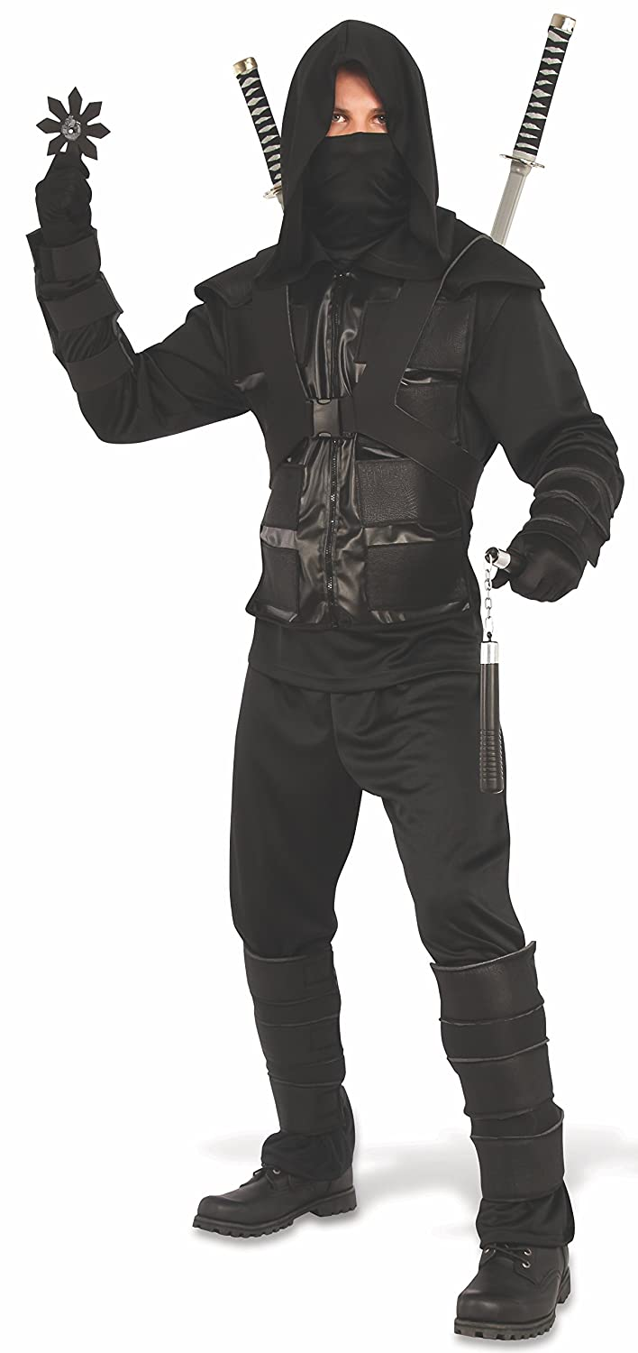 Rubies Mens Dark Ninja Costume, As As Shown X-Large