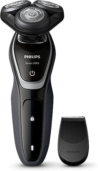 Philips S5110 - Afeitadora eléctrica, uso en seco, con recortador ...