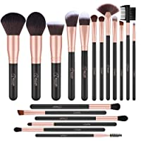 BESTOPE 18 Piece Makeup Brushes Set Premium Kabuki Brushes Synthetic Foundation Blending Blush Face Eyeliner Shadow Brow Concealer Lip Brush Tool Beauty Collection Cosmetic Brushes Kit