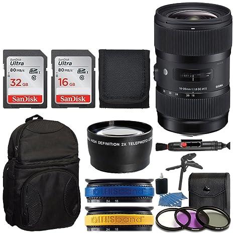 Sigma 18 - 35 mm f1,8 DC HSM objetivo para Nikon Cámaras réflex ...