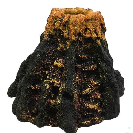 Forfar Volcán Forma y Volcán Burbuja De Aire Oxígeno Piedra De Rocalla Acuario De La Pecera