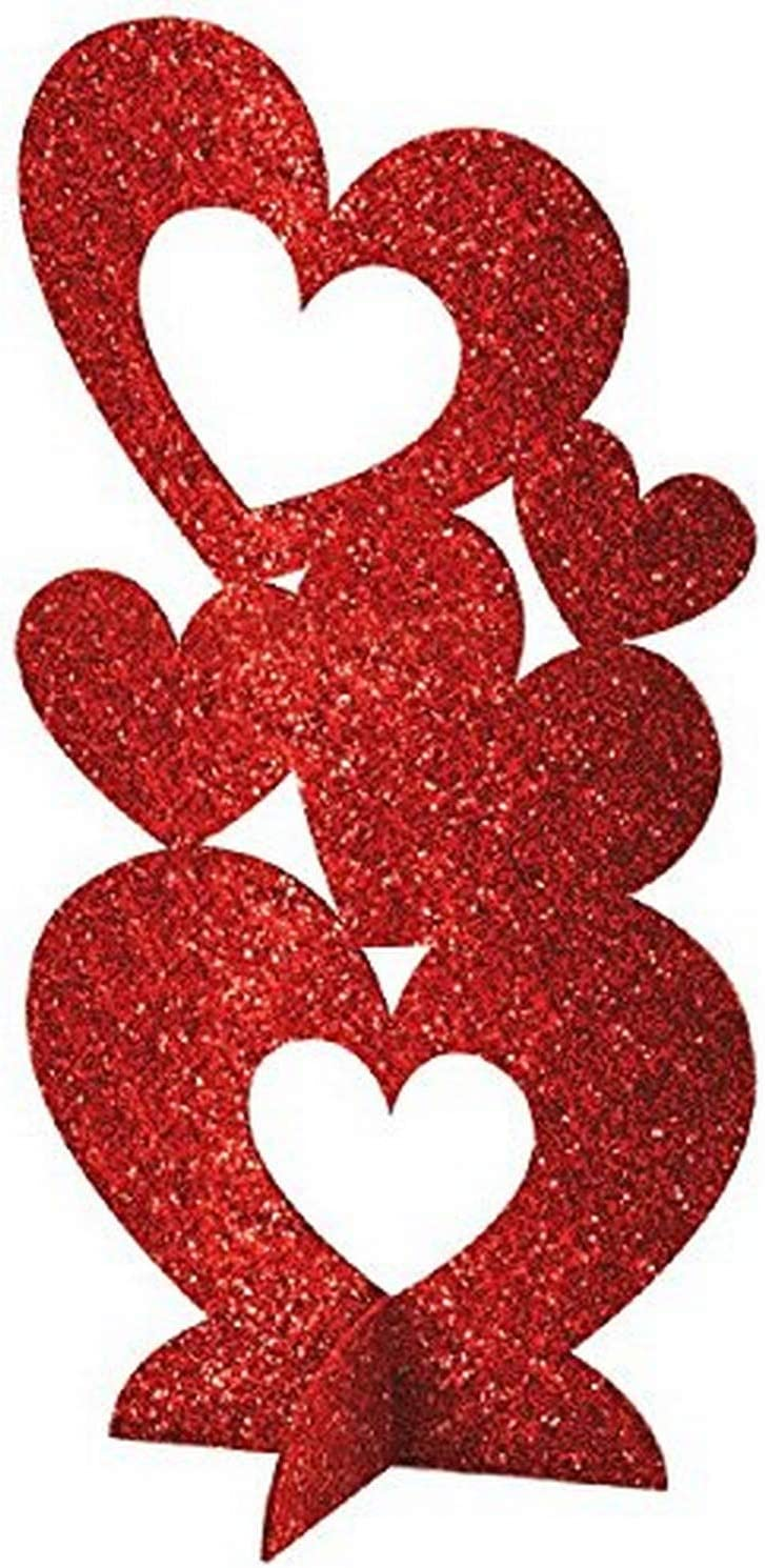 Amscan Craft Party Heart Décor, 11 1/2