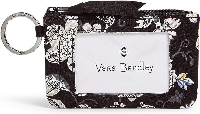 Vera Bradley Signature Cotton Zip ID Case Wallet