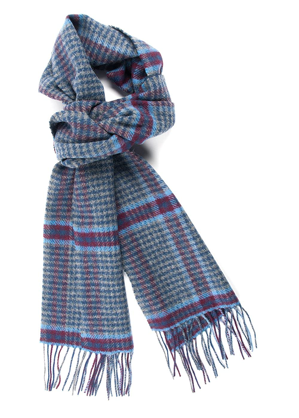 The Tie Bar Lincoln Square Plaid Wool Scarf