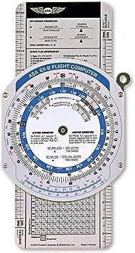 Asa – E6 Color vuelo ordenador Navegación ordenador calculadora VFR IFR Aviación: Amazon.es: Oficina y papelería