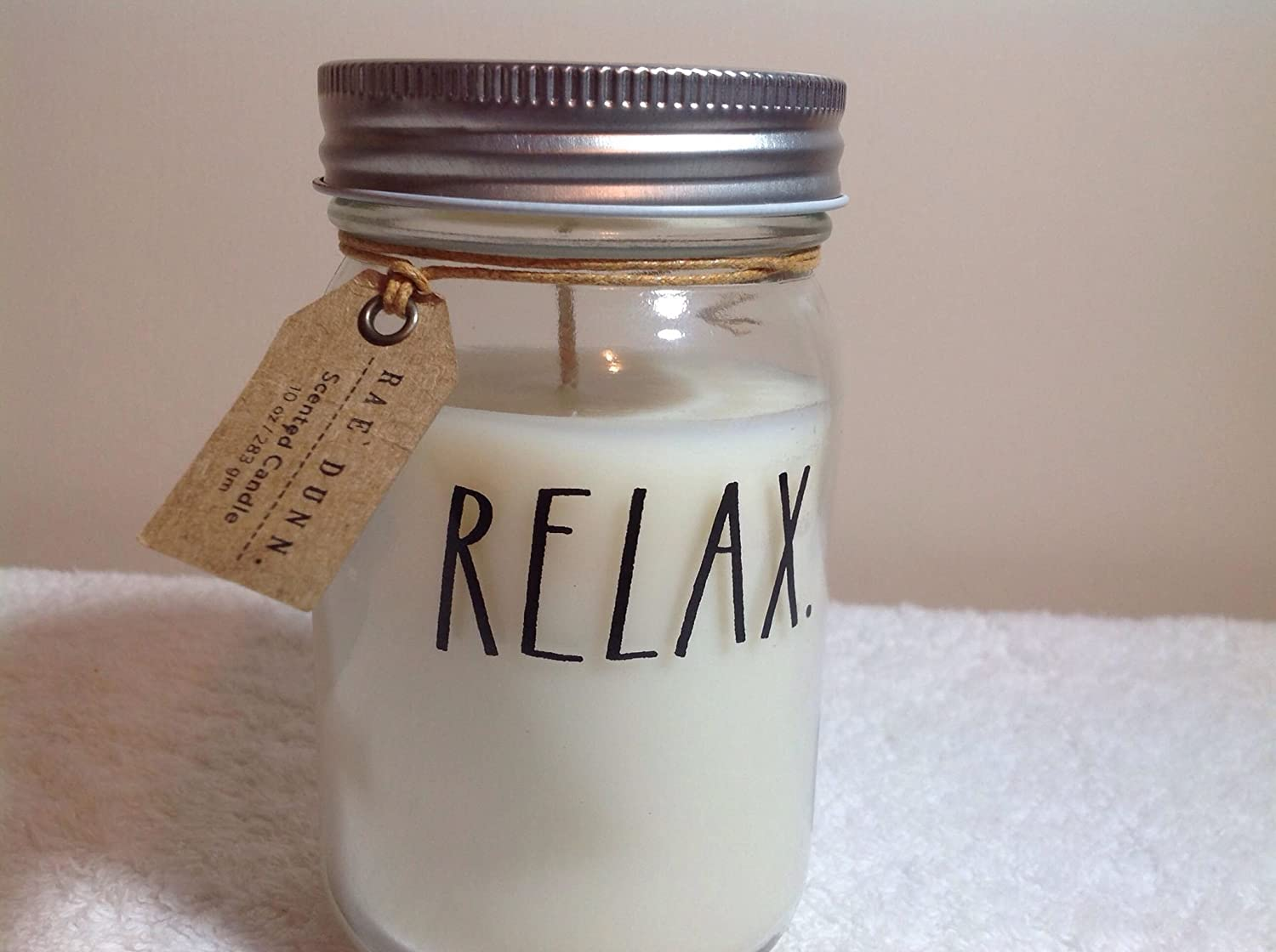 Rae Dunn Candle Relax Citrus Clove Scent