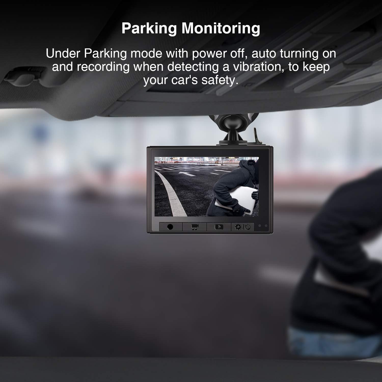 Loop-Aufnahme Bewegungserkennung Park-/Überwachung PEBA Dashcam WiFi Auto Kamera Full HD 1080P Auto Armaturenbrett Cam 150/° Weitwinkel Super mit Nachtsicht