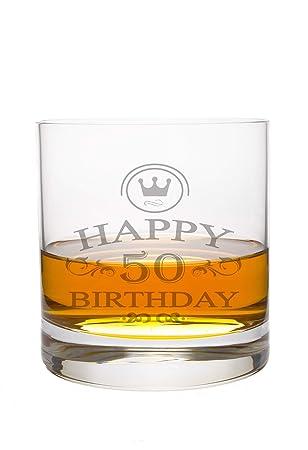 Whiskeyglas Leonardo mit 50 Jahre Gravur - Geburtstag Geschenk Geschenkidee  Whisky-Glas graviert