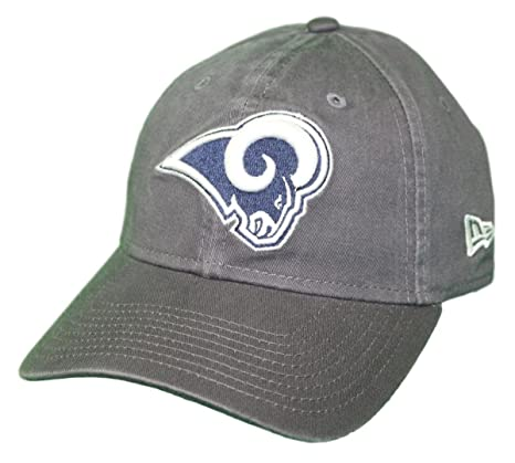 san francisco 9fffa 765c4 Image Unavailable. Image not available for. Color  New Era Los Angeles Rams  NFL 9Twenty Core Classic Graphite Adjustable Hat