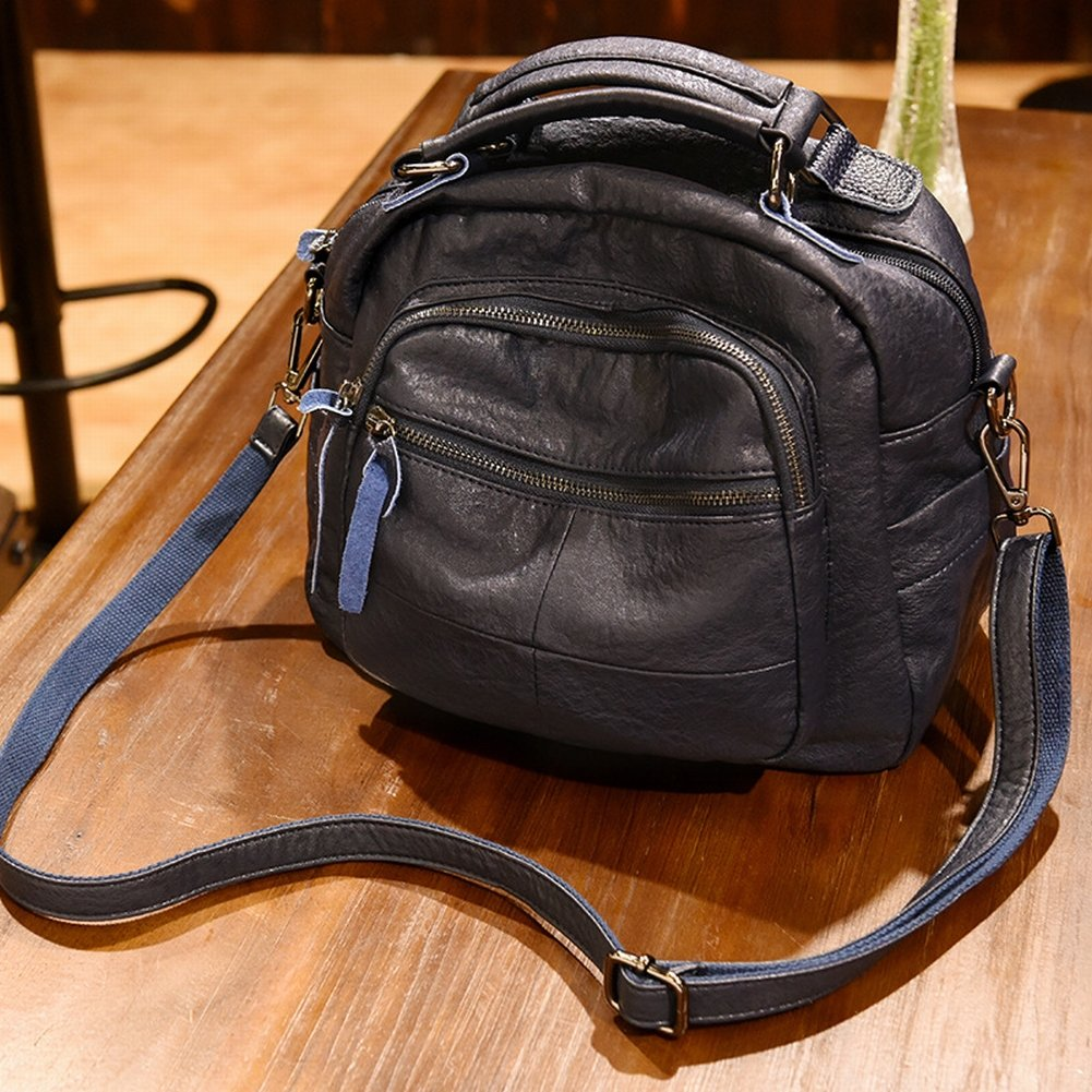 YTTY Version des Trends der Weichen Leder-Umhängetasche Große Handtasche Messenger Bag Weibliche Paket, Blau