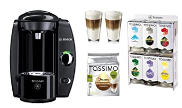 Bosch Tassimo T40 Fidelia Negro + WMF vasos + tdiscs + Soporte: Amazon.es: Hogar