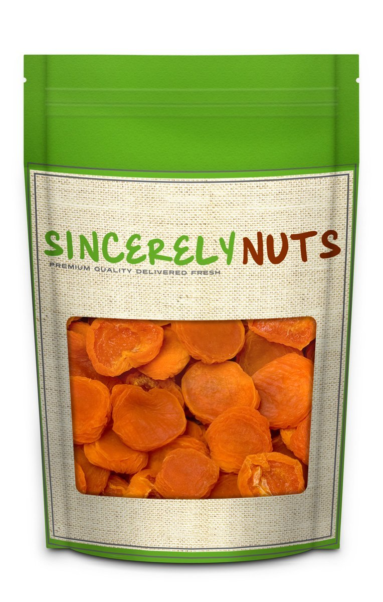 Sincerely Nuts - Dried Jumbo California Apricots | Two Lb. Bag | Dehydrated | Sweet Gourmet Snacking Food | Kosher and Gluten Free