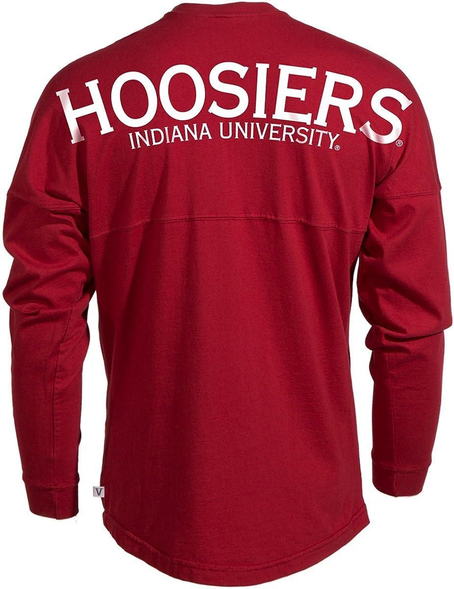 Official NCAA University of Indiana Hoosiers IU Womens Long Sleeve Spirit Wear Jersey T-Shirt