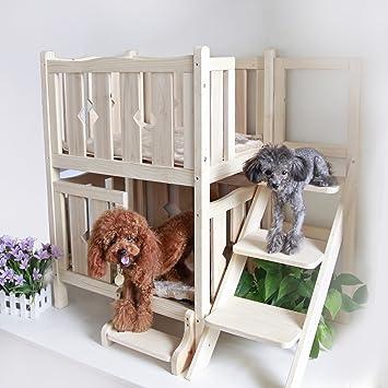 Amazon.com: Petsfit cama de madera para mascotas, cama para ...