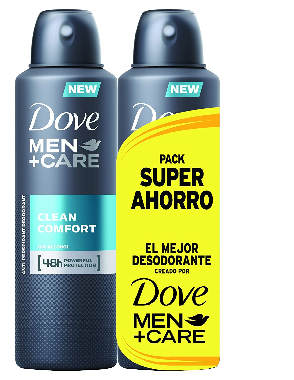 Dove Desodorante Clean Confort Hombre Ahorro - 2 Paquetes de 2 x 200 ml: Total - 800 ml Unilever 67484806