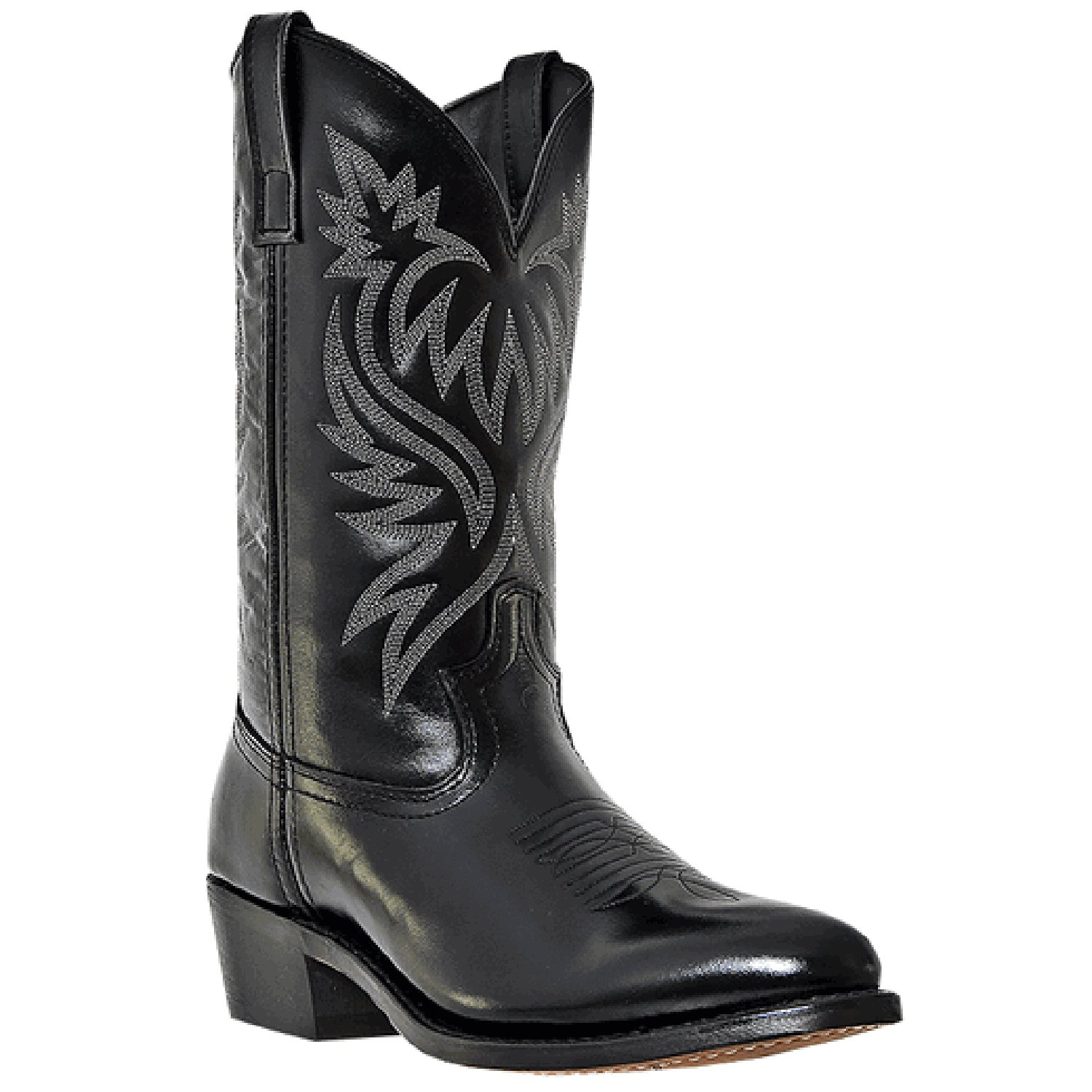 Laredo Mens Black Leather London 12in Sueded Outsole R Toe Cowboy Boots 10 EW by Laredo