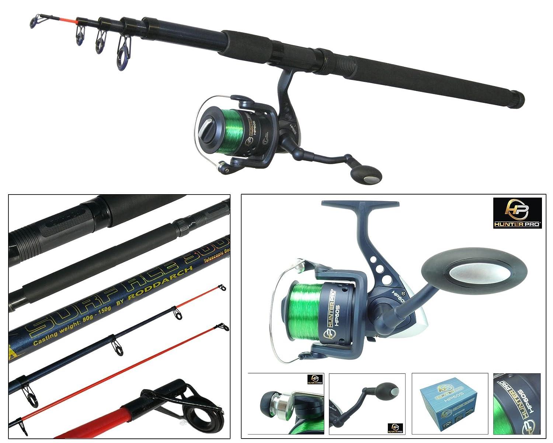 Sea Fishing Kit With 10' Telescopic Pier Surf Sea Fishing Travel Rod & Reel Roddarch