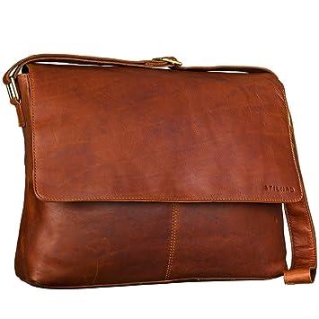 20291037ab7c2 STILORD Messenger Bag Leder Herren Damen Arbeitstasche DIN A4  Dokumententasche Akten Büro Uni Freizeit für 15