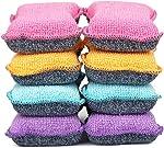 UPSTAR Microfiber Scrubber Sponge, Non-Scratch Kitchen Scrubbies, Dishwashing and Bathroom Sponges,