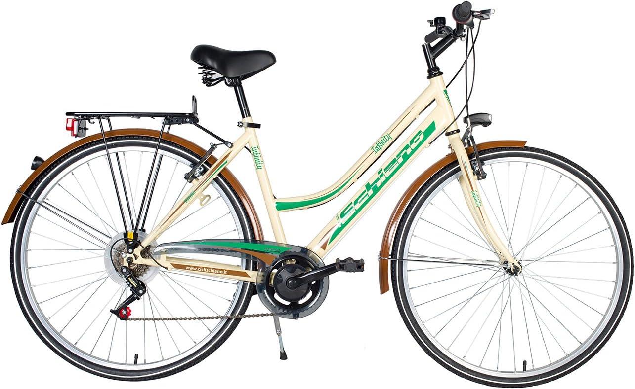 F.lli Schiano CTB Trekking Infinity Bicicleta, Mujer, Marfil, 28 ...