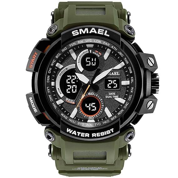 SMAEL Mens Sports Watch, Fashion New Design Watch Analog Digital Watch Sports Wristwatch Military Watch