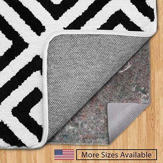 4x6 Mohawk Home Dual Surface Felt and Latex Non Slip Rug Pad Safe for Hardwood Floors and All Surfaces 1//4 Inch Thick